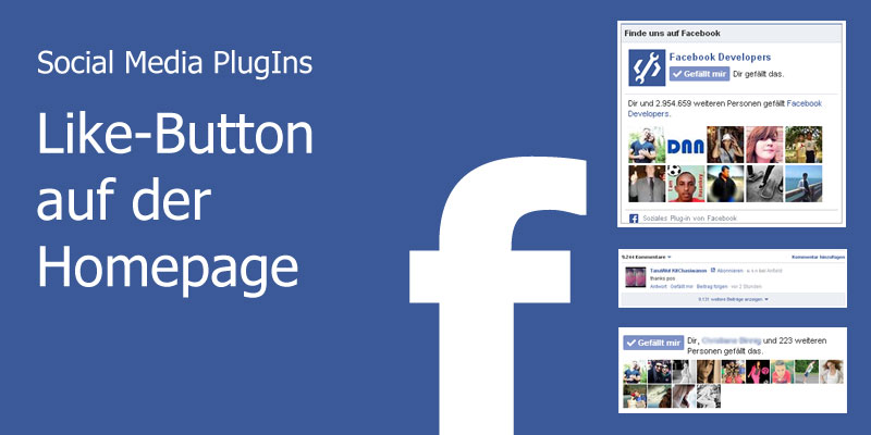 Social Media PlugIns - Like-Button auf der Homepage